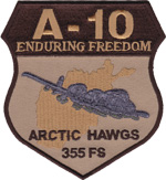 355th FS A-10 Enduring Freedom