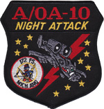 172nd FS A/OA-10 NIGHT ATTACK