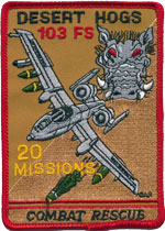 103rd FS Combat Rescue 20 Missions