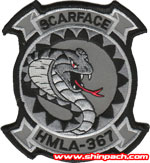HMLA-367 SQ PATCH (Gray)