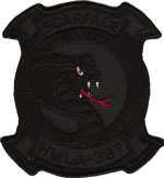 HMLA-367 SQ PATCH(Black)