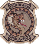 HMLA-367 SQ PATCH (Desert)